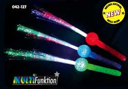 "LED- Glasfaserlampe ""BALL"" Regenbogen"